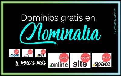 Nuevos dominios Gratis con Nominalia