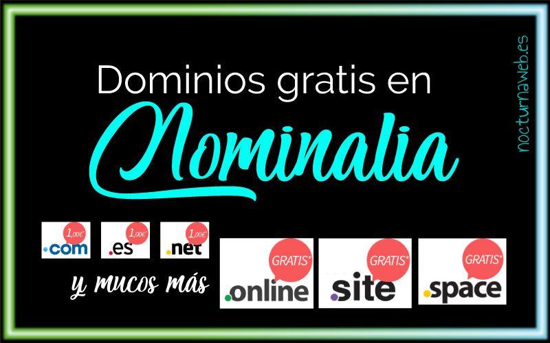 imagen con texto neón de: nuevos dominios en nominalia