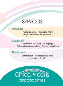 Diseño Flyer para Clínica Arcoíris
