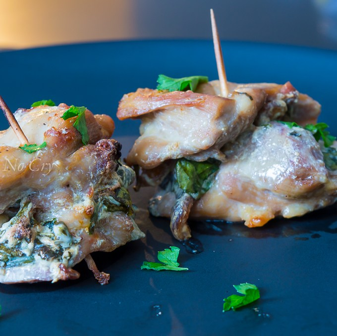 Healthy Apricot, Cream Cheese, And Spinach Stuffed Chicken Thighs