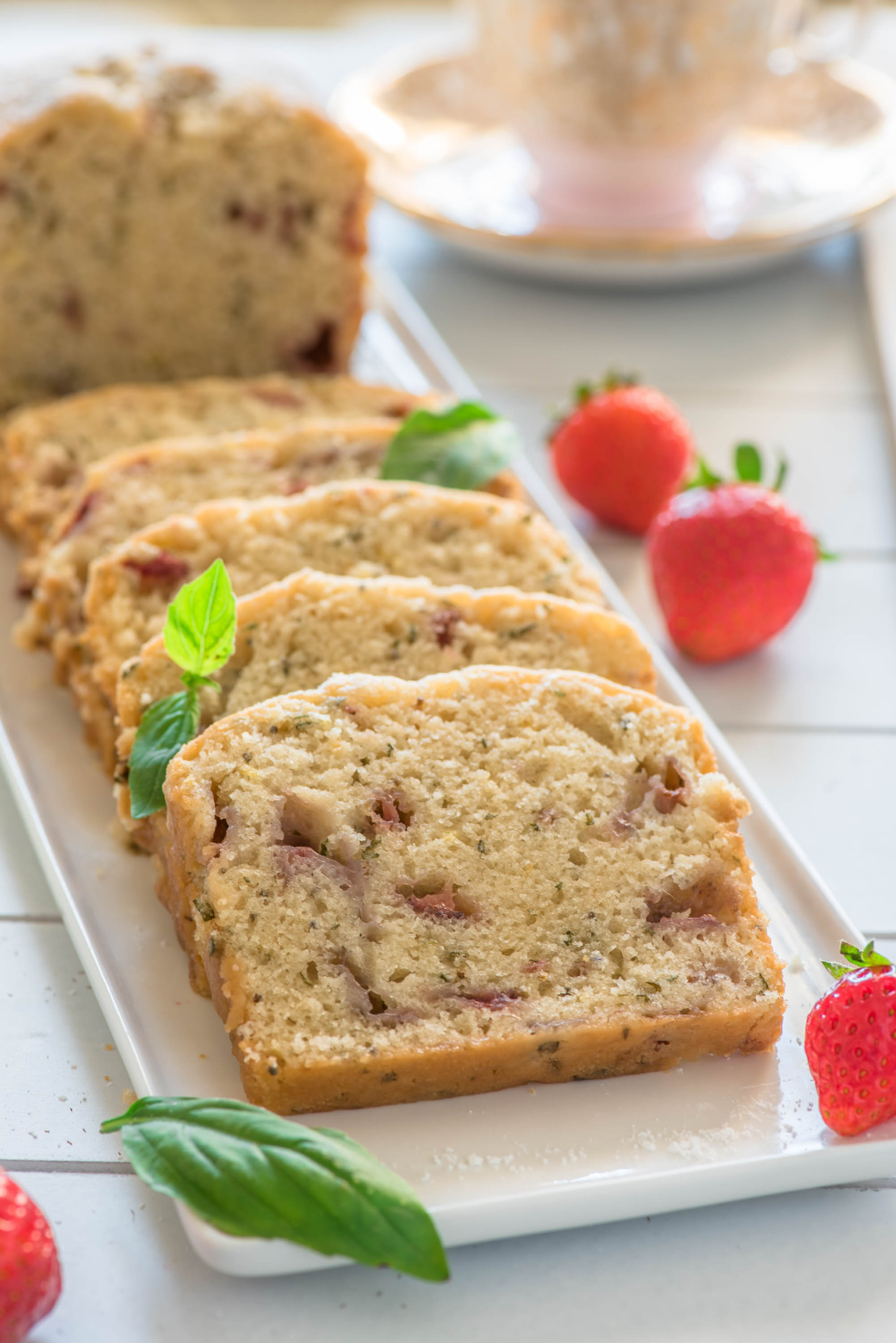 strawberry basil chia loaf cake 8