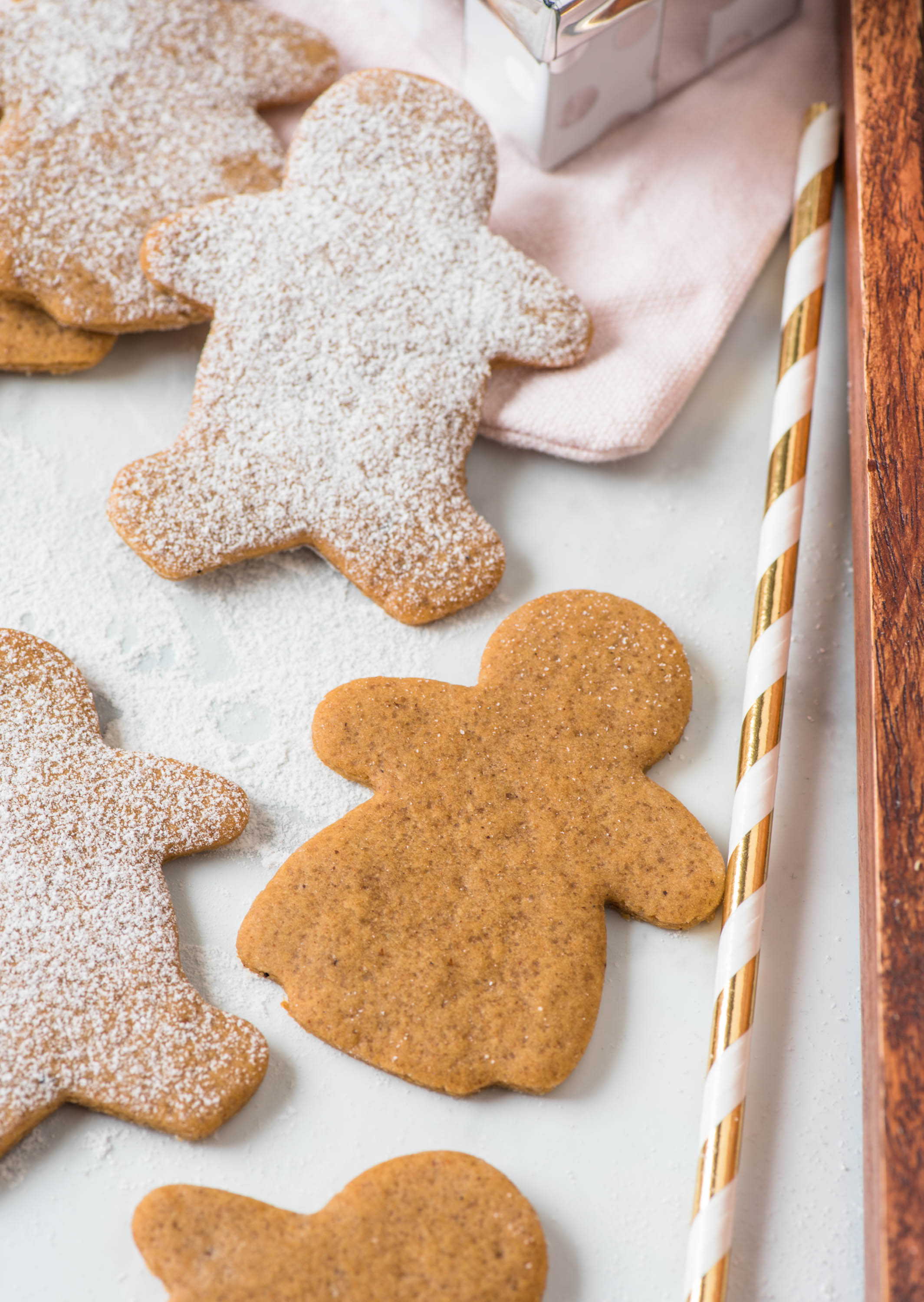 Close up of perfect gingerbread cookies