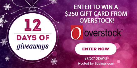 Win a gift card from Overstock!