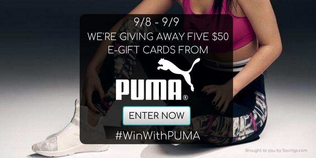Win a $50 Visa e-gift card from PUMA.