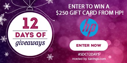 Win a gift card from HP!