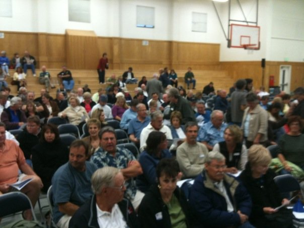 Audience in the Two Gates Meeting at the Discovery Bay Elementary School