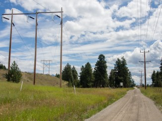 FST Solar BC Hydro Right-of-Way and provincial road