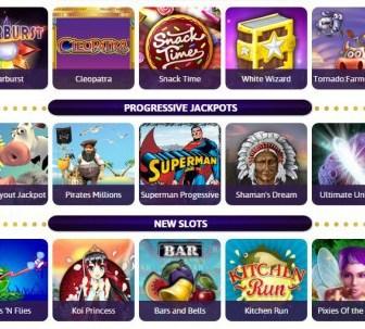 Wink Slots game lobby