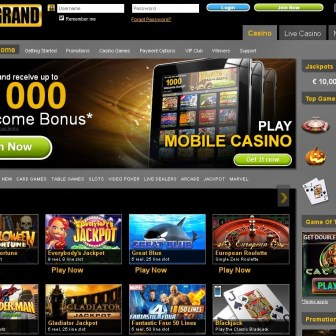 EuroGrand Casino homepage