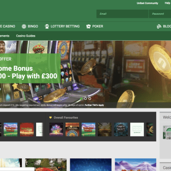 UniBet Casino - Homepage