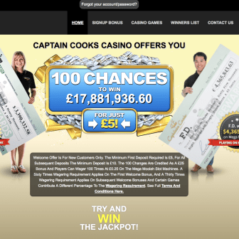 Captain Cook's Casino - Homepage