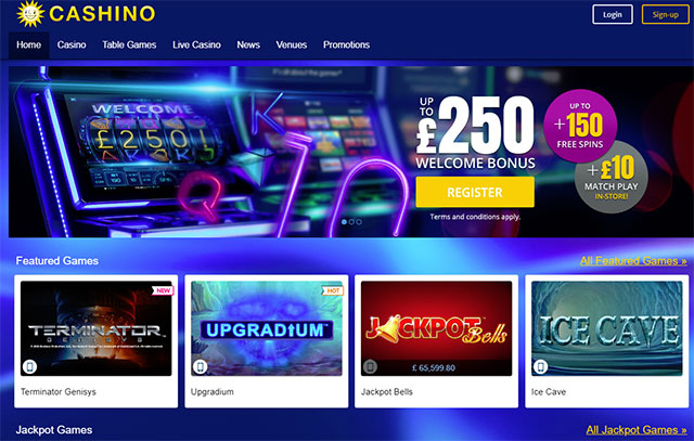 Cashino Casino Homepage