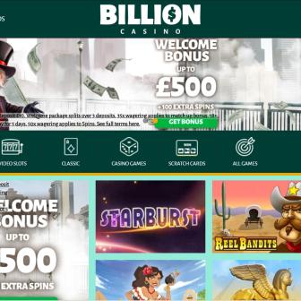 Billion Casino - Homepage