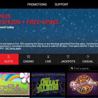 Sticky Slots - Homepage