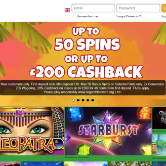 Slots Jungle Casino Homepage