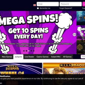 Vegas Wins Casino - Free Spins Bonus - Homepage