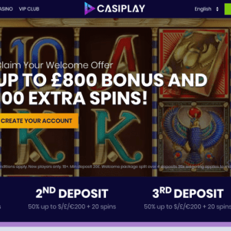 Casiplay Casino - homepage