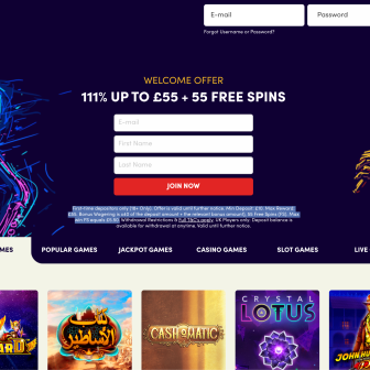 Jazzy Spins Casino - Homepage
