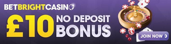 BetBright casino no deposit banner