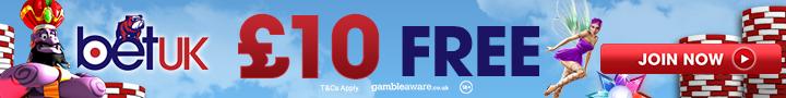BetUK Casino £10 No Deposit Bonus