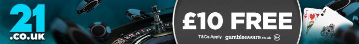 21.co.uk £10 free