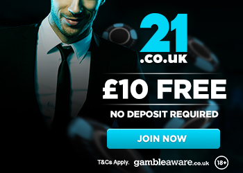 21.co.uk no deposit bonus