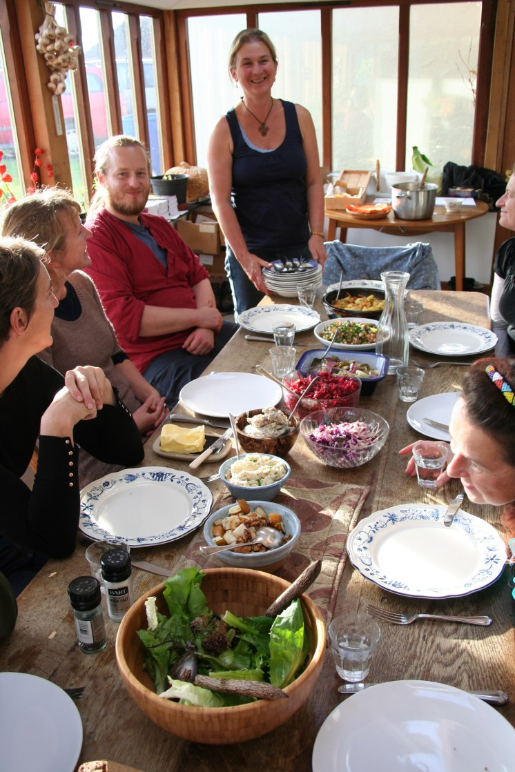 Course lunch, lots of different salads and a roast parsnip soup, November 16 2014