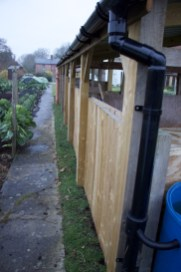 rear view of the compost area
