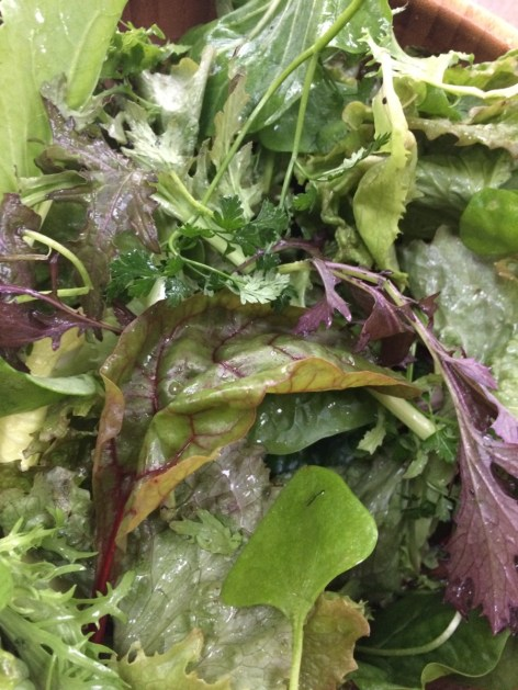 Charles' salad leaves