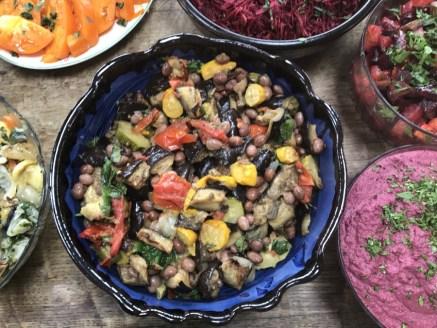 roasted veg with aubergine