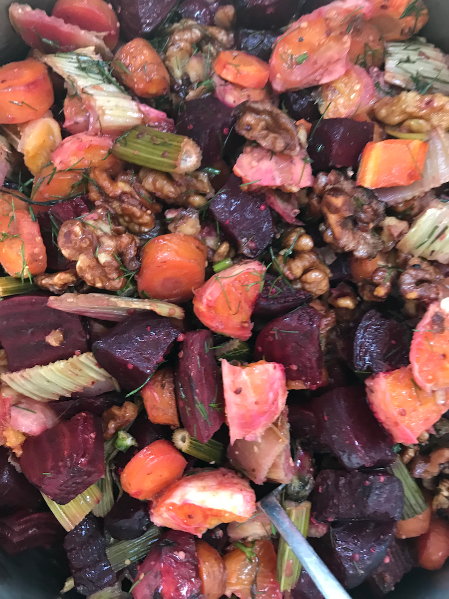 Two Summer Salads - Virgin Mojito Cucumbers and Roast Fennel with Beetroot