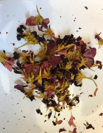 dried nasturtium flowers