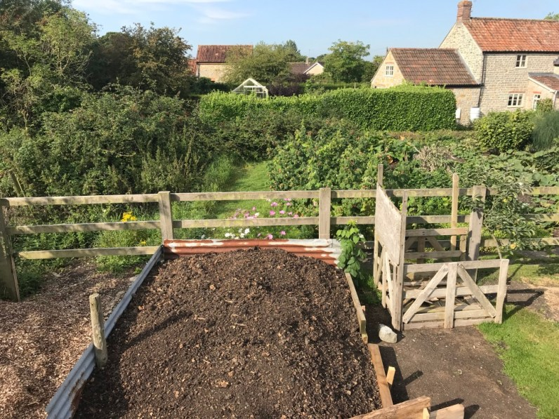 view across compost