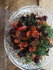 roast beetroot with walnuts and orange