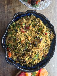 cous cous with all kinds of veggies