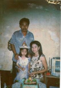 Saya, ibuk dan bapak, 13 tahun yang lalu