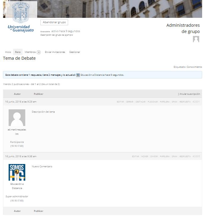 Comentario Cargado