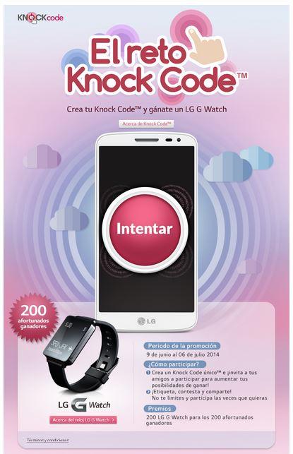 Reto Knock Code LG