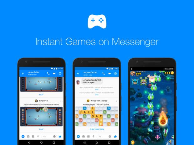 Instant games messenger