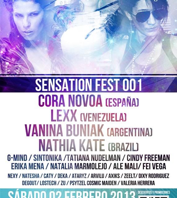 FSensation Fest Cora Novoa Flyer Back