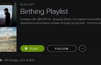 birthing playlist