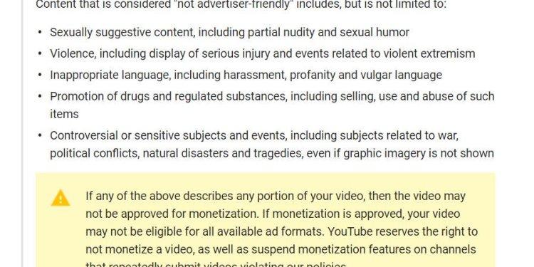youtube censura
