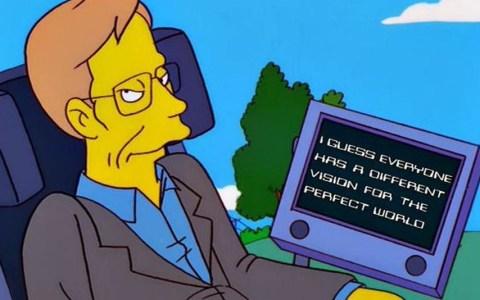 Stephen Hawking los Simpson