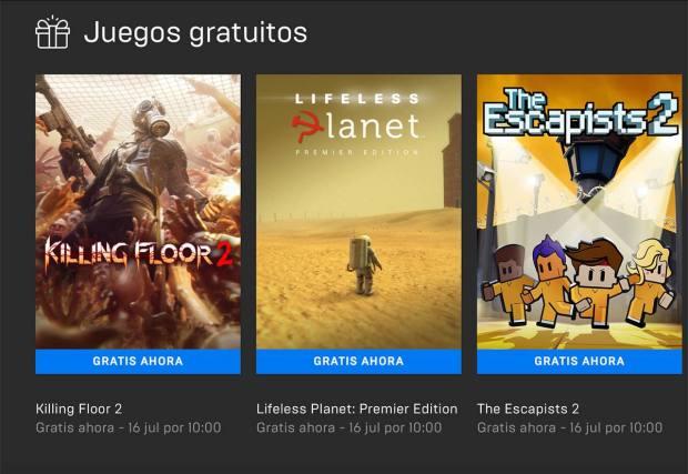 Juegos gratis en EPIC