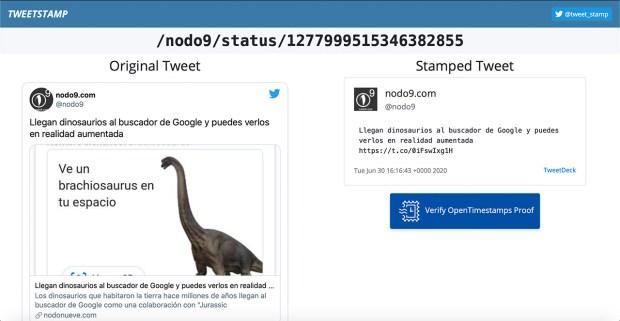 tweetstamp Guardar tweets