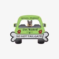 German Shepherd On Board Car Magnet