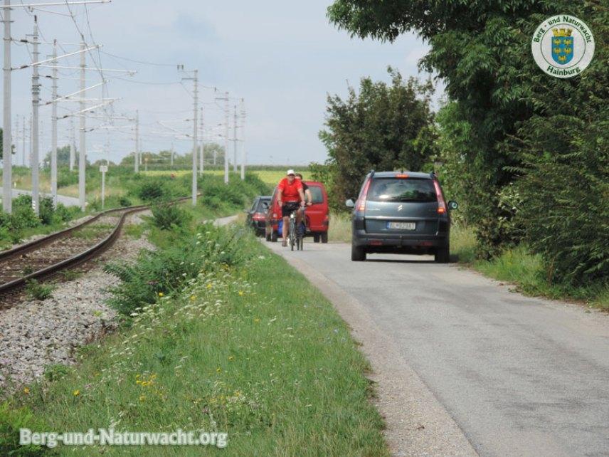 """Unzählige Radfahrer folgten """"ihren"""" Hinweistafeln   Foto: Berg-und-Naturwacht.org"""