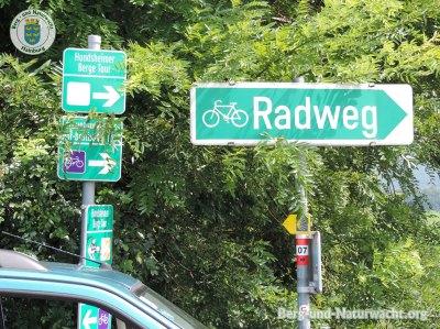 Beispiel für die Irreführung der Fahrradfahrer | Foto: Berg-und-Naturwacht.org