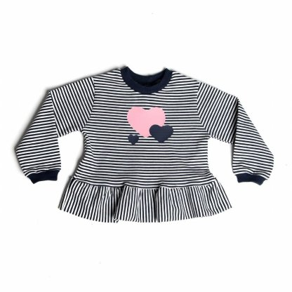 speelse shirt met hartjes