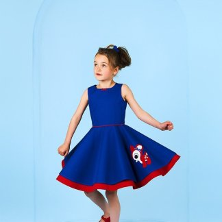 swing-deer-blue-dress